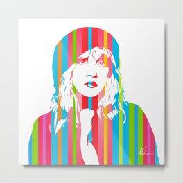 Stevie Nicks | Pop Art Metal Print