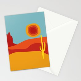 Funky Retro Desert in 70s Colors Stationery Cards