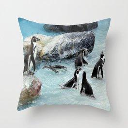 Penguins. Throw Pillow