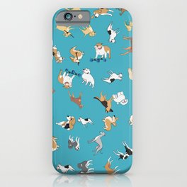 Scattered Cartoon Dogs iPhone Case
