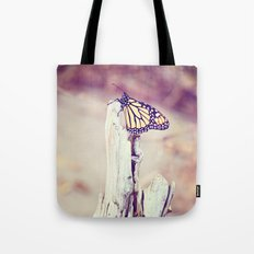 Tired Monarch Butterfly Rests Tote Bag