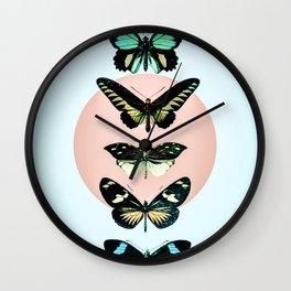 Butterfly parade Wall Clock