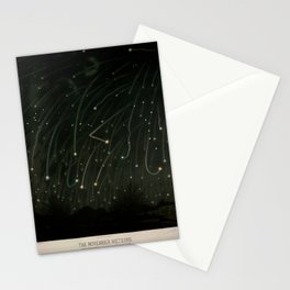 Meteor shower by Étienne Léopold Trouvelot (1868) Stationery Cards