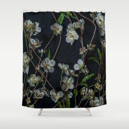 White Flowers Shower Curtain