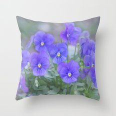 Pansy Love Throw Pillow