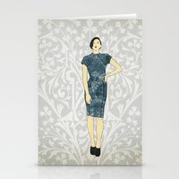 charmaine olivia Stationery Cards featuring Olivia by Aquamarine Studio