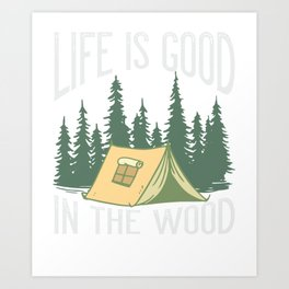 Camper Forest Wood Camping Gift Art Print
