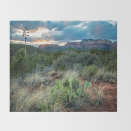 Southwest Serenade - Sunset at Sedona Arizona Throw Blanket
