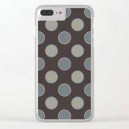 Oatmeal Stout Retro Polka Dot Print Seamless Pattern Clear iPhone Case