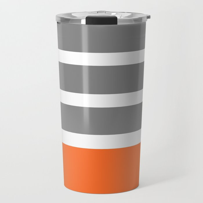 Orange Stripe Travel Mug