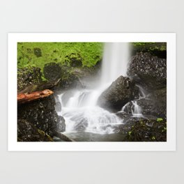 Pacific Northwest Adventure - Long Exposure Waterfall | Silver Falls Art Print