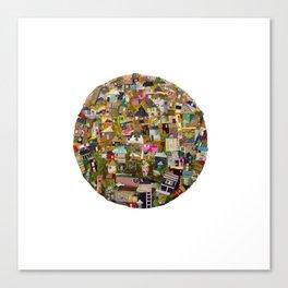 dreaming village Canvas Print