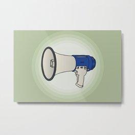 Bullhorn or megaphone Metal Print