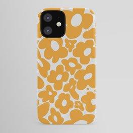 60s 70s Hippy Flowers Yellow iPhone Case