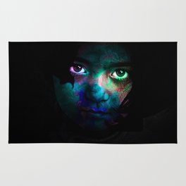 Colorful portrait Rug