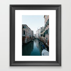 Empty boats in Venice Framed Art Print