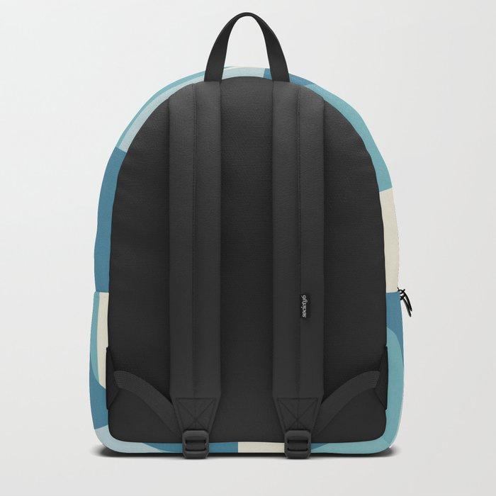 Geometric Blue Pattern Backpack