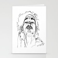 matty healy Stationery Cards featuring Kiss Matty by rachelmbrady_art