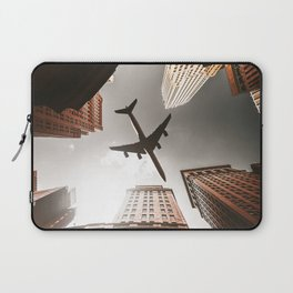 airplane in manhattan Laptop Sleeve