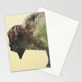 Surreal Buffalo Stationery Cards