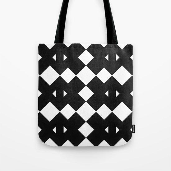 Branting Black & White Pattern Tote Bag