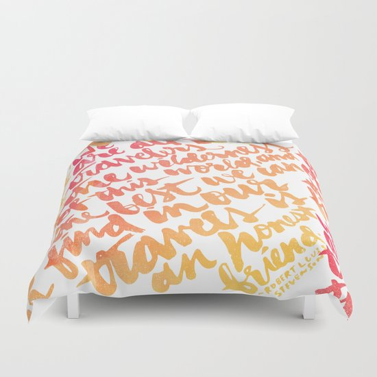 We are all travelers... Duvet Cover