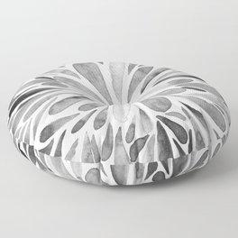 Symmetric drops - black and white Floor Pillow