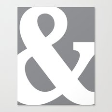 Ampersand slate Canvas Print