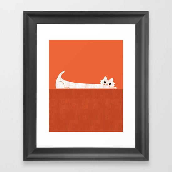 Mark's Superpower: cat Superstretch Framed Art Print