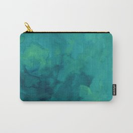 Watercolor green and blue Carry-All Pouch