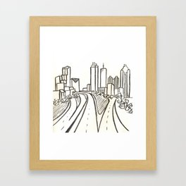 Atlanta - Jackson St. Bridge Framed Art Print