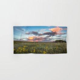Prairie Fire - Fiery Sky at Sunset in Oklahoma Hand & Bath Towel