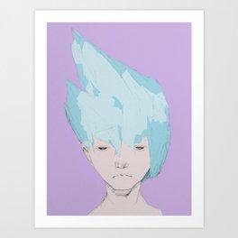 """Ice Shards""  Art Print"