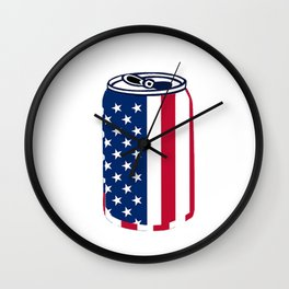 American Beer Can Flag Wall Clock