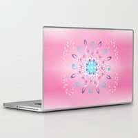 music notes Laptop & iPad Skins featuring Music Notes In Pink by HK Chik