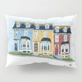 Jellybean Row - Newfoundland houses, buildings Pillow Sham