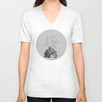 breakfast club V-neck T-shirts featuring BREAKFAST CLUB... by studiomarshallarts