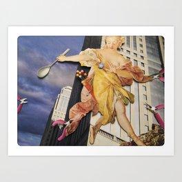Daphne | Collage Art Print