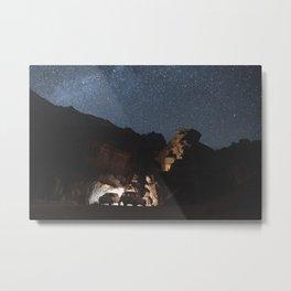 Stars over Wadi Rum Metal Print