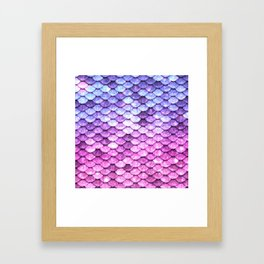 Unicorn Mermaid Tail Framed Art Print