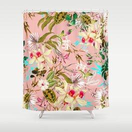 Gardenia #pattern #botanical Shower Curtain