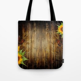 Butterflies and Sunflowers Tote Bag
