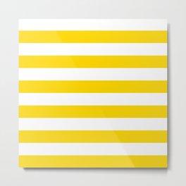 Horizontal stripes / gold (color) Metal Print