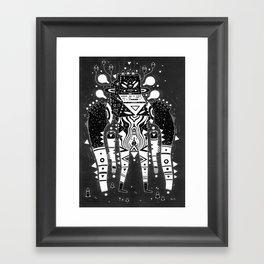 muscle jerk Framed Art Print
