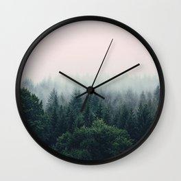 Between every two pines is a doorway to a new world Wall Clock