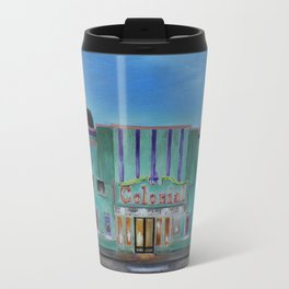 Evening at the Colonial Movie Theater Painting Travel Mug