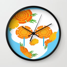 Marigolds Wall Clock