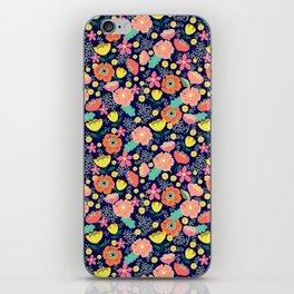 Night wild flowers iPhone Skin