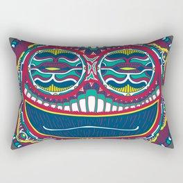 Adrenaline Mask Multicolor Rectangular Pillow