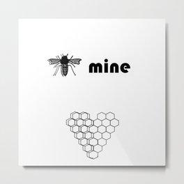 B mine Metal Print